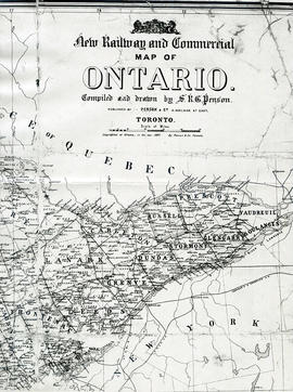 New Railway and Commerical Map of Ontario
