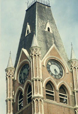 Photograph of City Hall clock, Belleville.