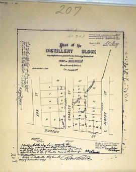 Plan of Distillery Block in the town of Belleville