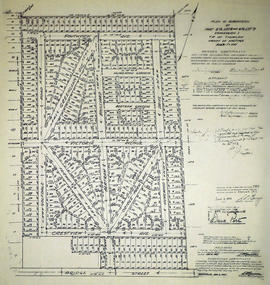 Subdivision of part of Lots 5&9 in the Township of Thurlow