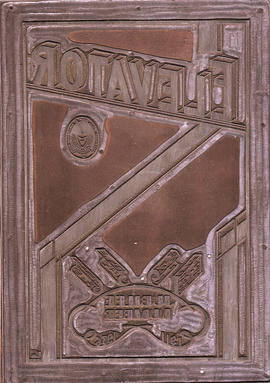 Printing block for 'Elevator' magazine