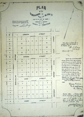 Plan of Block D in the town of Trenton