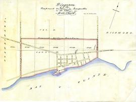 Diagram of the proposed outlines for incorporation as the Village of Mill Point