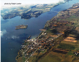 Aerial photograph of Deseronto and Bay of Quinte, Ontario