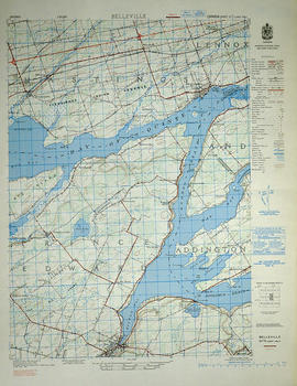 Topographical Map of east Belleville - Canada sheet