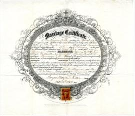 McAnnany, Francis  and Smart, Sarah marriage certificate, 1868
