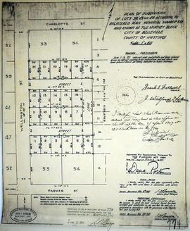 Subdivision of Lots 38, 43, 46 in the City of Belleville