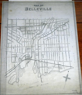 Map of City Streets in Belleville 1932