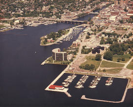 Aerial photograph of Belleville, Ontario