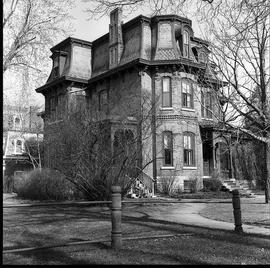 Negatives of photographs of houses in Belleville, Ontario