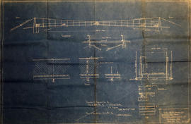 Foot Bridge across Moira River Blueprint