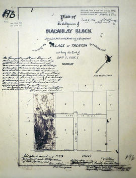 Plan of Macaulay Block in the village of Trenton