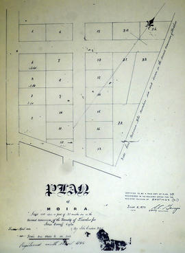Plan of Moira in the Township of Thurlow