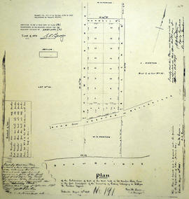 Plan of Hamilton Place Subdivision in the Township of Sidney