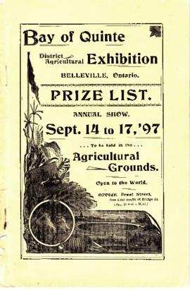 Bay of Quinte District Agricultural Exhibition Prize List