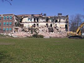 Digital photographs of demolition of Belleville Collegiate Institute and Vocational School