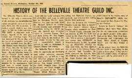 History of the Belleville Theatre Guild Inc.