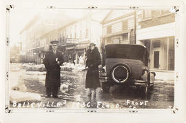 Photographs of Belleville floods and parade