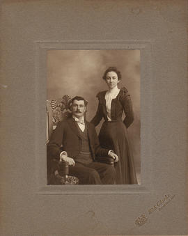 Photograph of unidentified man and woman