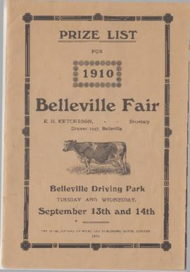 Prize List for 1910 Belleville Fair