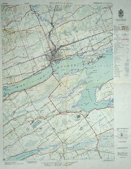 Topographical Map of Belleville - Canada sheet