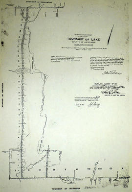 Plan of Resurvey of part of Township of Lake