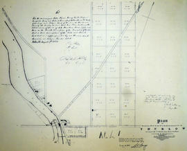 Plan of Saylor Reed Estate in the Township of Thurlow