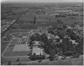 Digital copy of aerial photograph of Ontario School for the Deaf