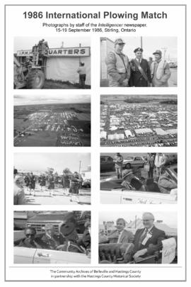 Display of photographs of 1986 International Plowing Match