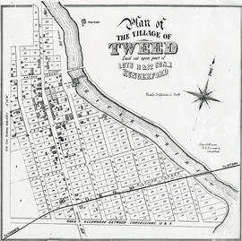 Photocopy of a Plan of the Village of Tweed