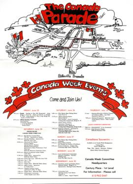 Canada Week promotional materials and photographs