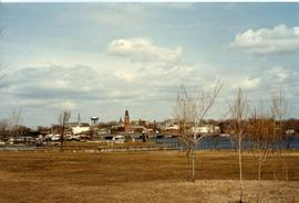 View of Belleville from across Moira River in Zwick's Park
