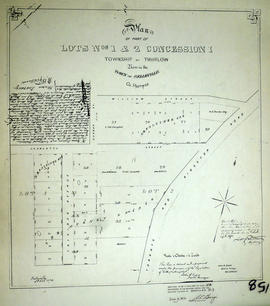 Plan of part of lots 1-2 in the Township of Thurlow