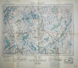 Topographical map of Coe Hill, Ontario
