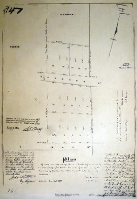 Plan of town lots for A. L. Smith in the town of Belleville