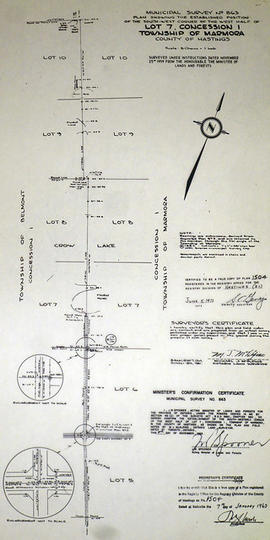Municipal Survey of west Lot 7 in the Township of Marmora