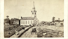 Photograph of drawing of St. Peter's Presbyterian Church, Madoc