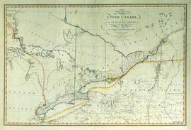 Reproduction of a map of the province of Upper Canada