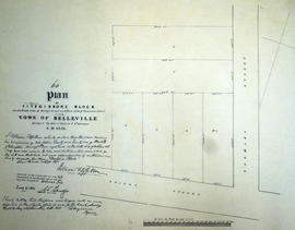 Plan of Fitzgibbons Block in the town of Belleville
