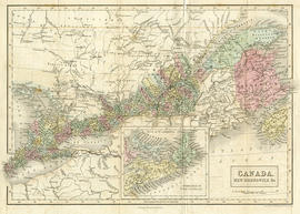 Map of Canada, New Brunswick and C