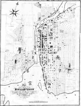 Plan of the town of Belleville 1845