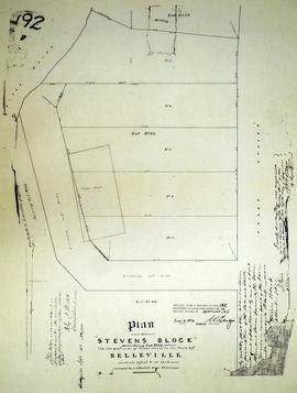 Plan of Stevens Block in the Town of Belleville