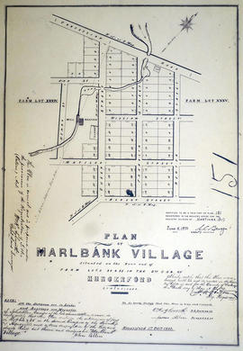 Plan of the village of Marlbank 1865