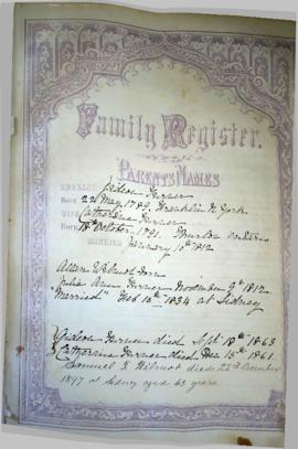 Digital photographs of family history notes