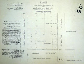 Plan of Glebe Property in the village of Trenton