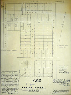 Plan of Fenton Block in the Township of Thurlow