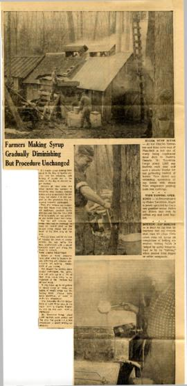 Thurlow Township : maple syrup making 1966