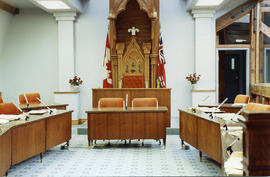 Council chambers in city hall Belleville, Ontario.