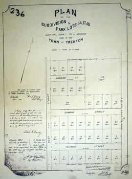 Plan of Park Lots 14, 17-18 in the Town of Trenton