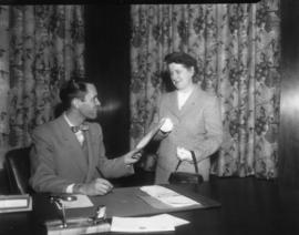 Mayor Gerald B. Hyde of Belleville, Ontario with woman.